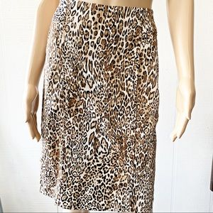 💃🏽 New York & Company Leopard Print Skirt Size 2